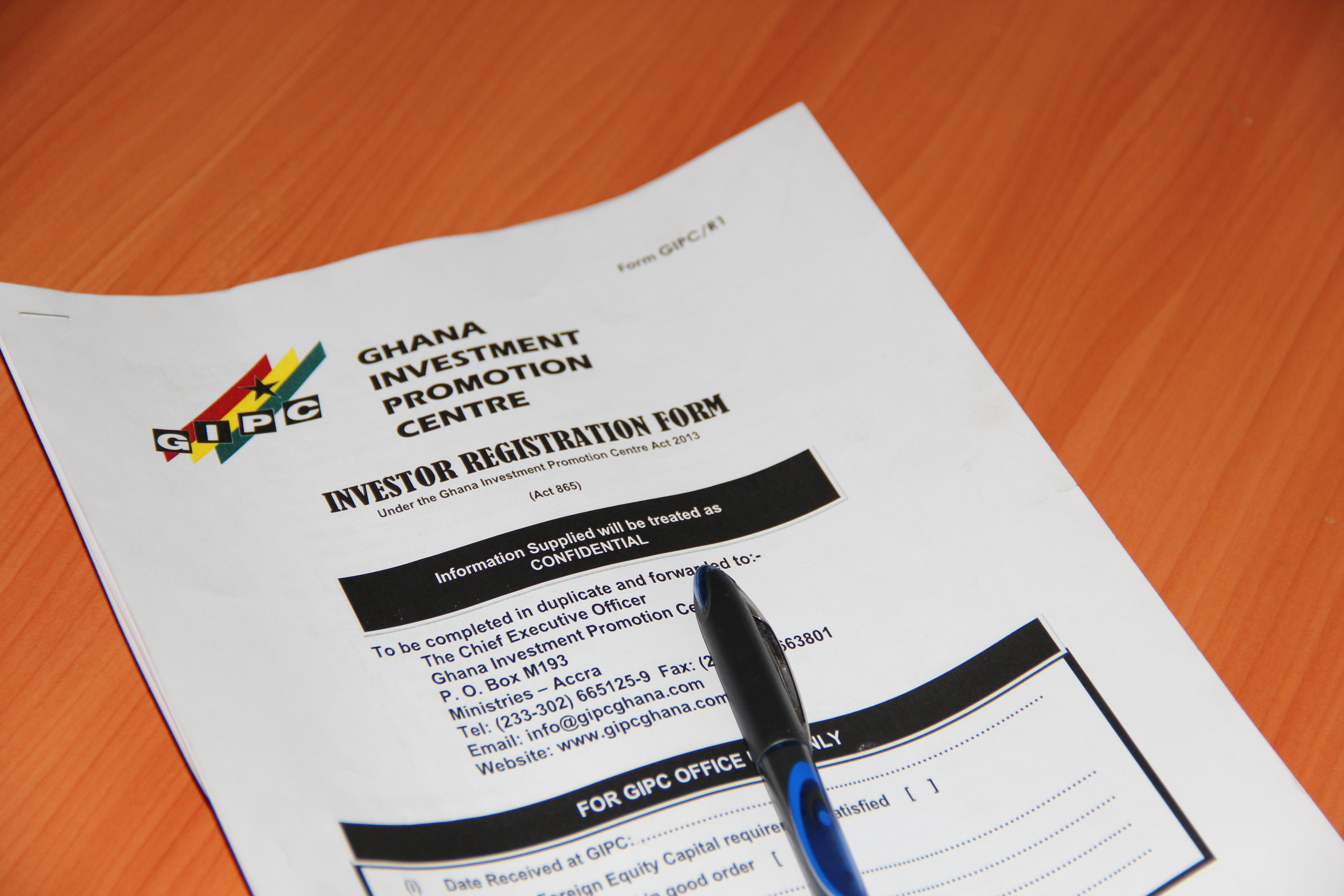 How to obtain a work and residence permit in ghana firmus advisory business registration with the gipc as a foreign investor falaconquin