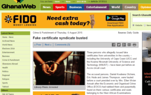 Fake Tax Clearance Certificate