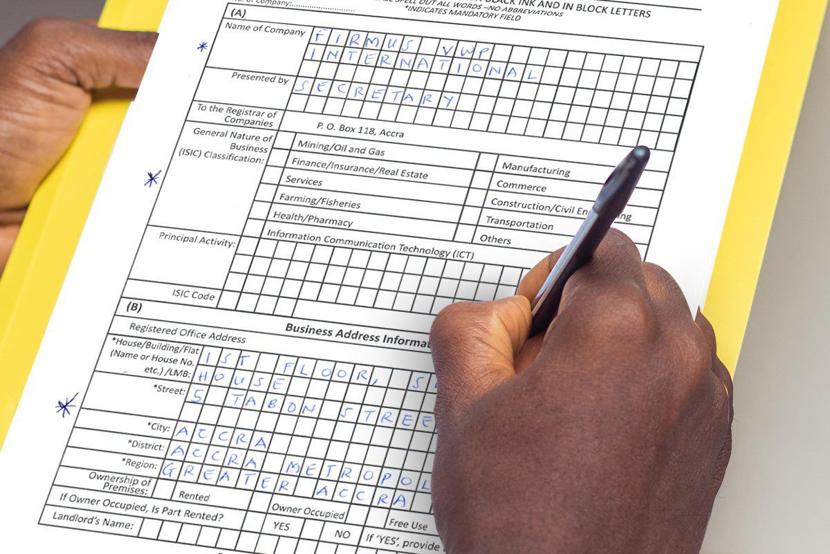 HOW TO REGISTER A COMPANY LIMITED BY SHARES IN GHANA