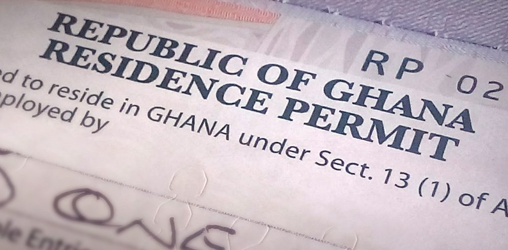 HOW TO OBTAIN A WORK AND RESIDENCE PERMIT IN GHANA